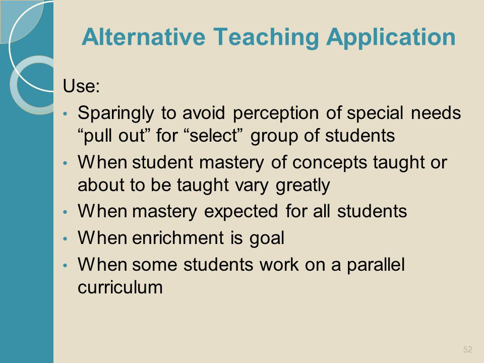 Alternative Teaching Application
