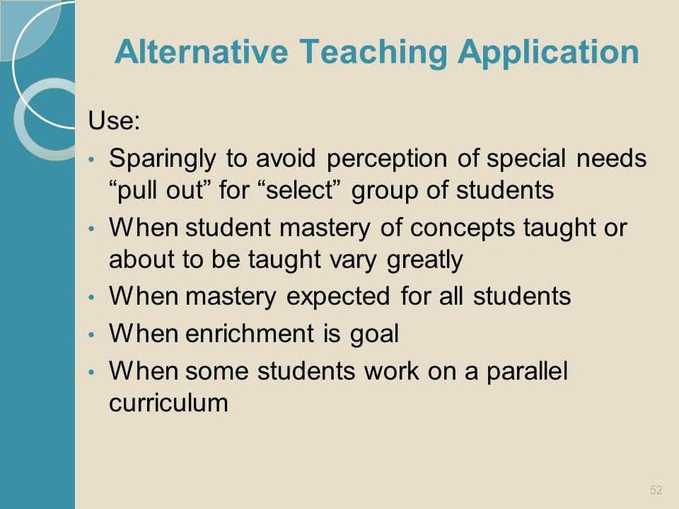 Alternative Teaching Application