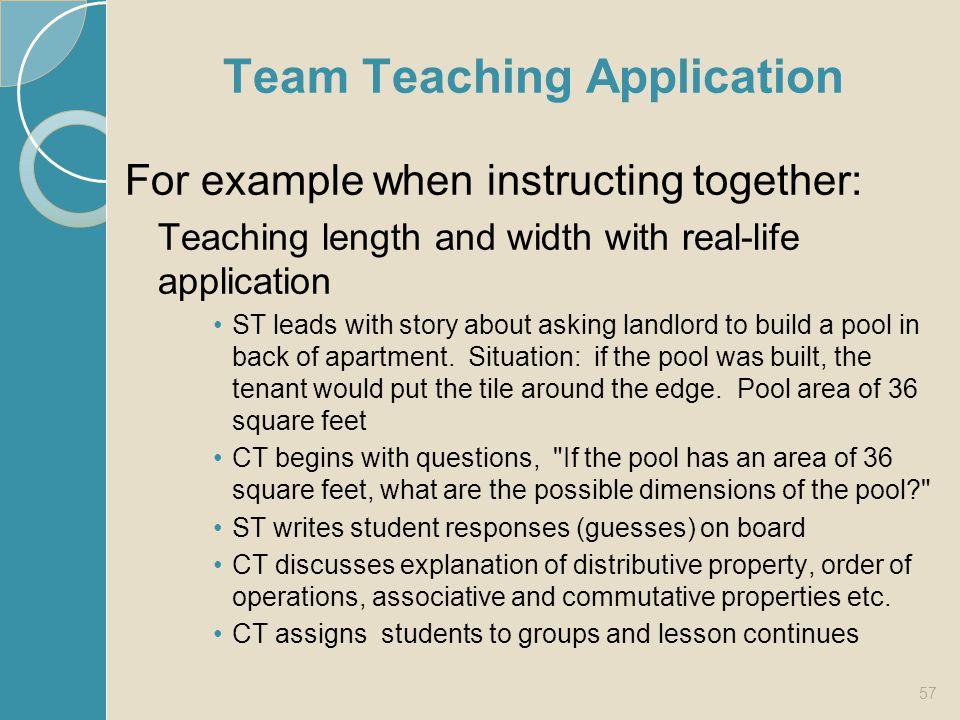 Team Teaching Application