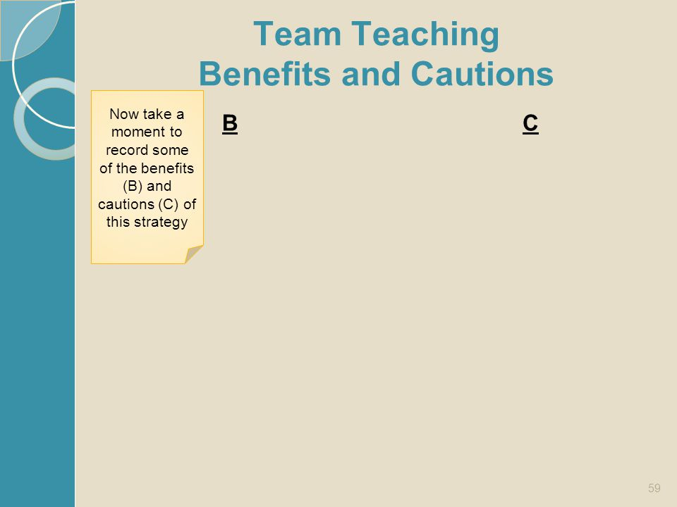Team Teaching Benefits and Cautions