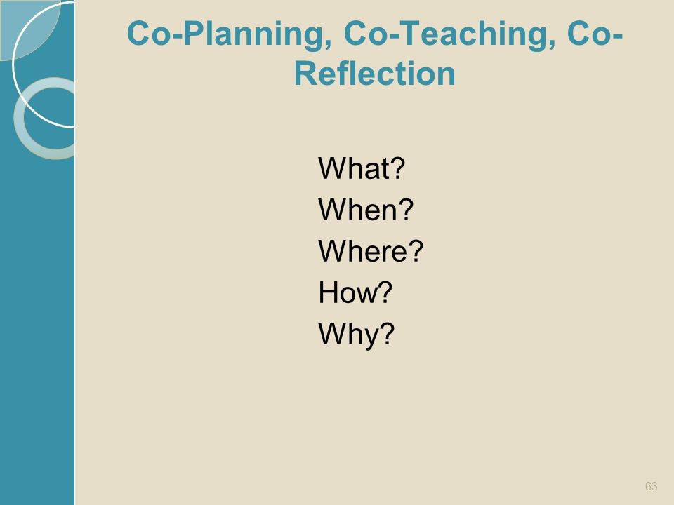 Co-Planning, Co-Teaching, Co-Reflection