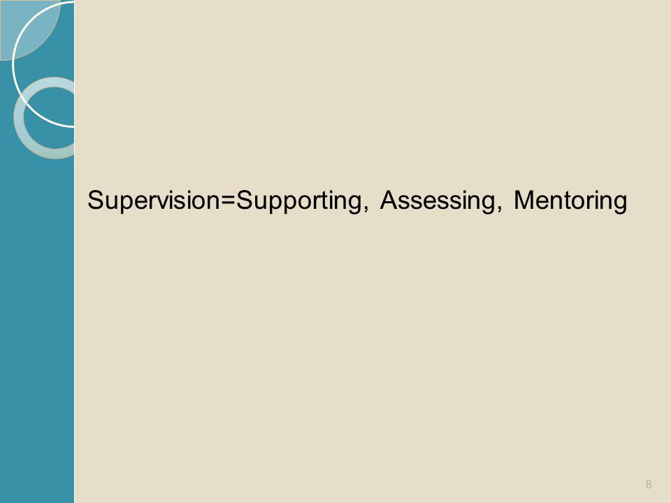 Supervision=Supporting, Assessing, Mentoring