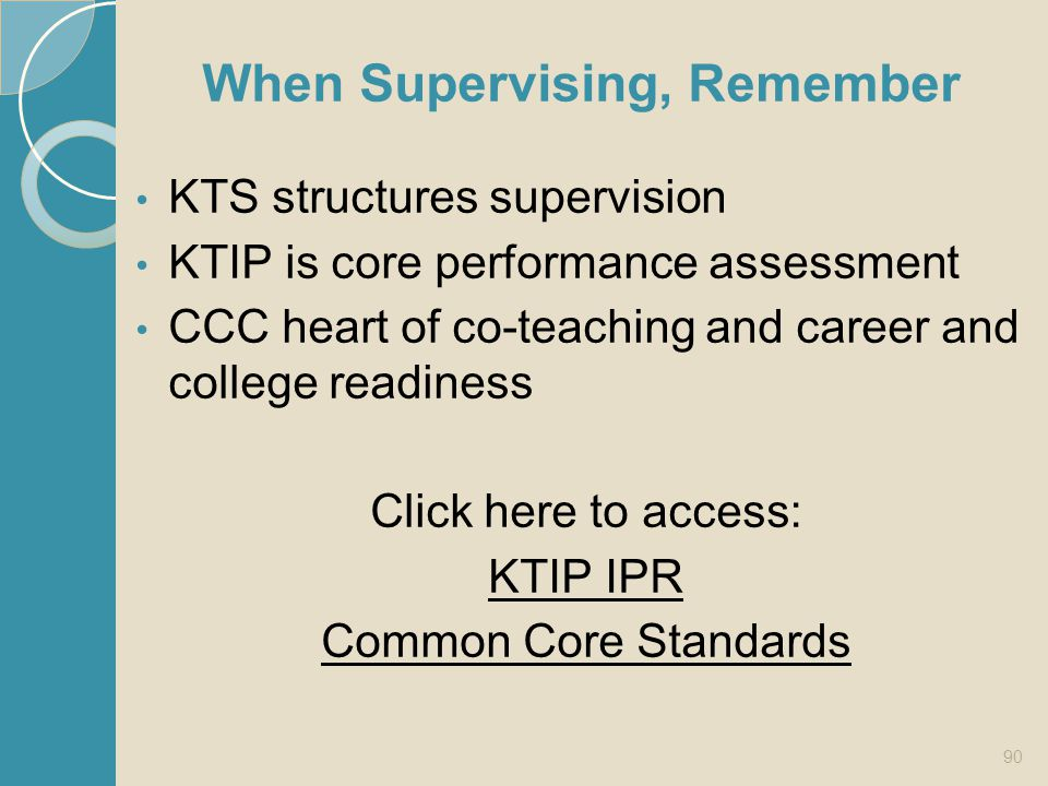 When Supervising, Remember