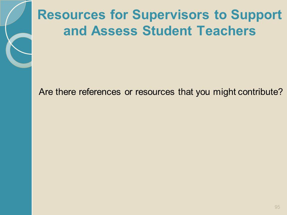 Resources for Supervisors to Support and Assess Student Teachers