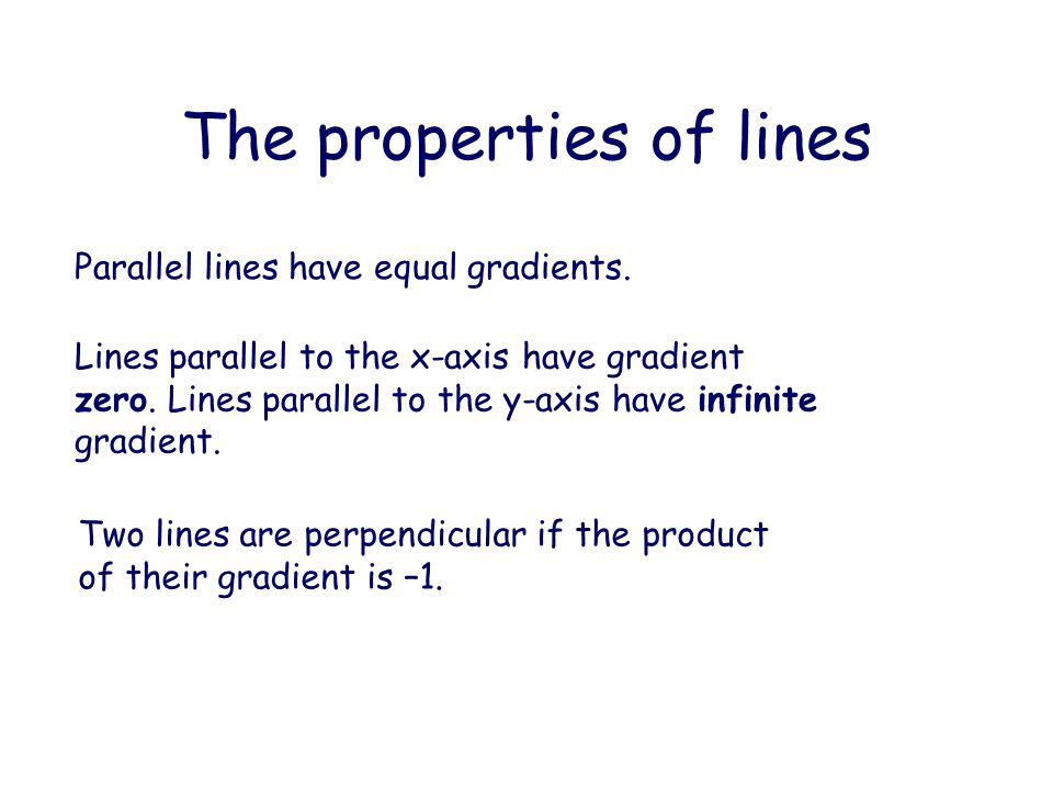 The properties of lines