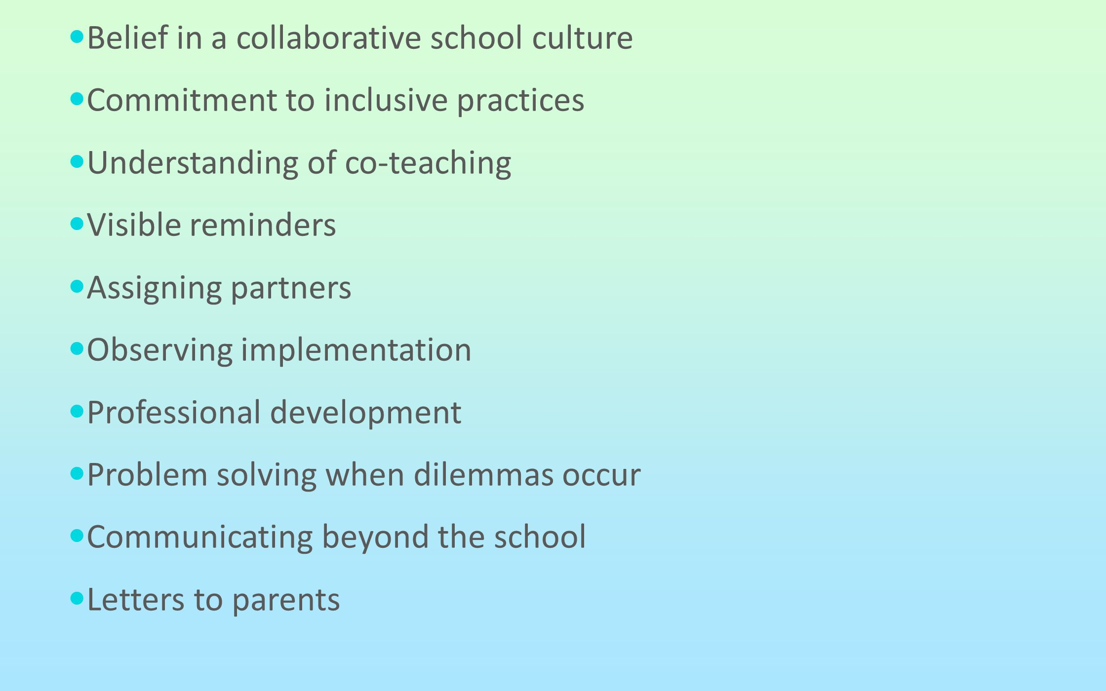 Belief in a collaborative school culture