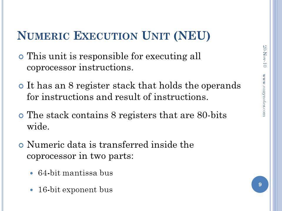 Numeric Execution Unit (NEU)