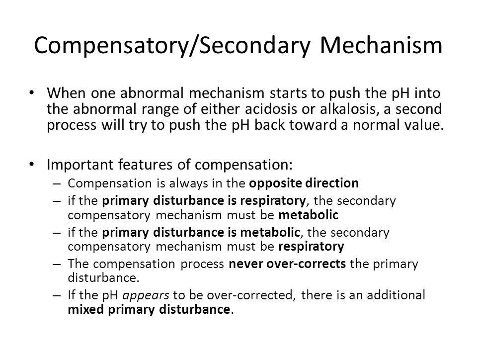 Compensatory/Secondary Mechanism