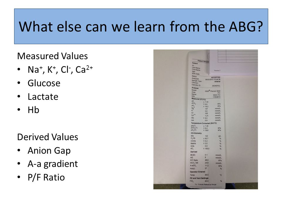 What else can we learn from the ABG