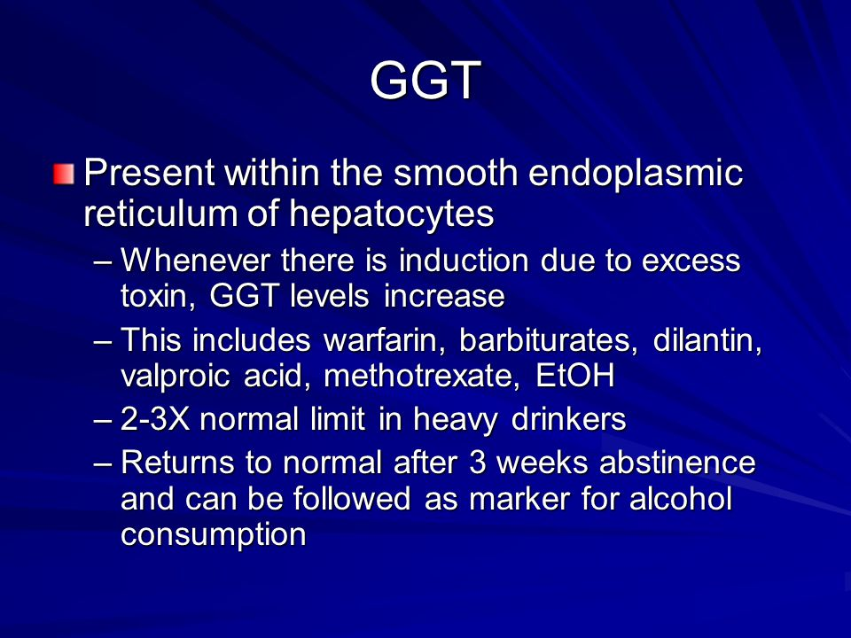 GGT Present within the smooth endoplasmic reticulum of hepatocytes