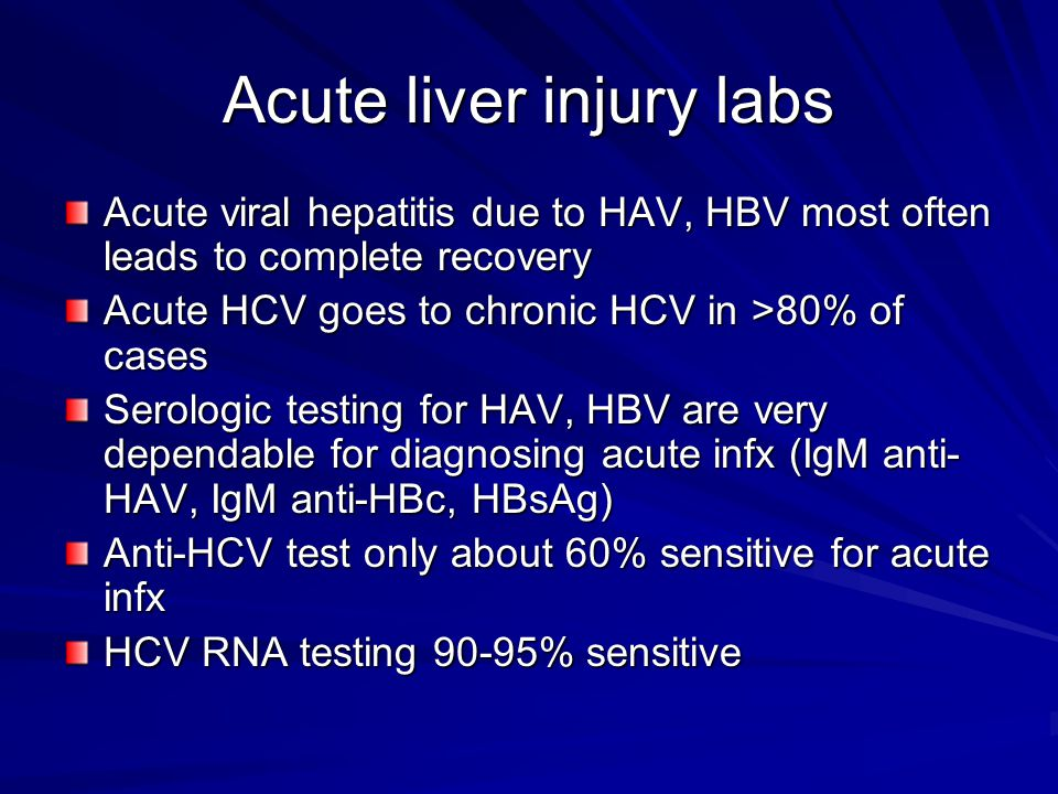 Acute liver injury labs