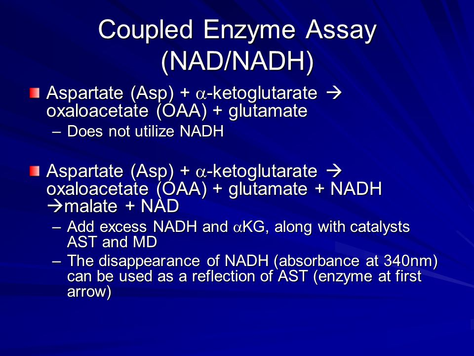 Coupled Enzyme Assay (NAD/NADH)