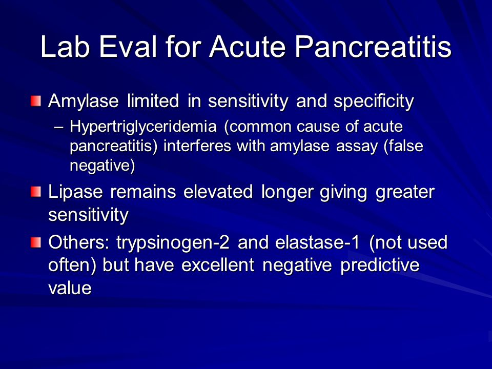Lab Eval for Acute Pancreatitis