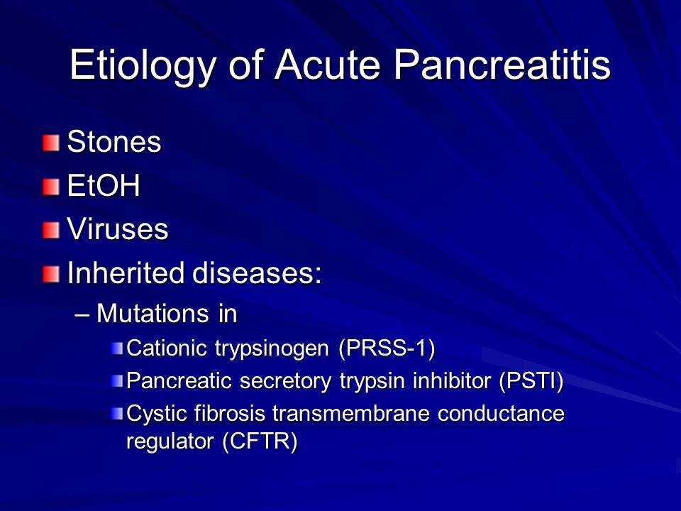 Etiology of Acute Pancreatitis