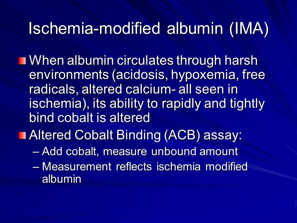 Ischemia-modified albumin (IMA)