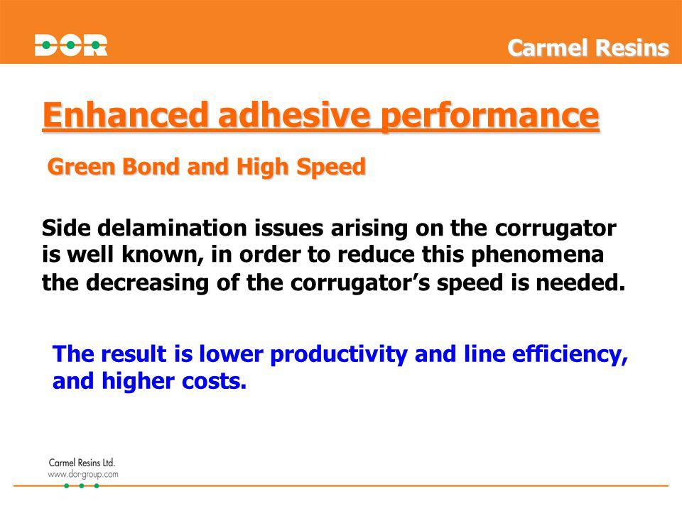 Enhanced adhesive performance