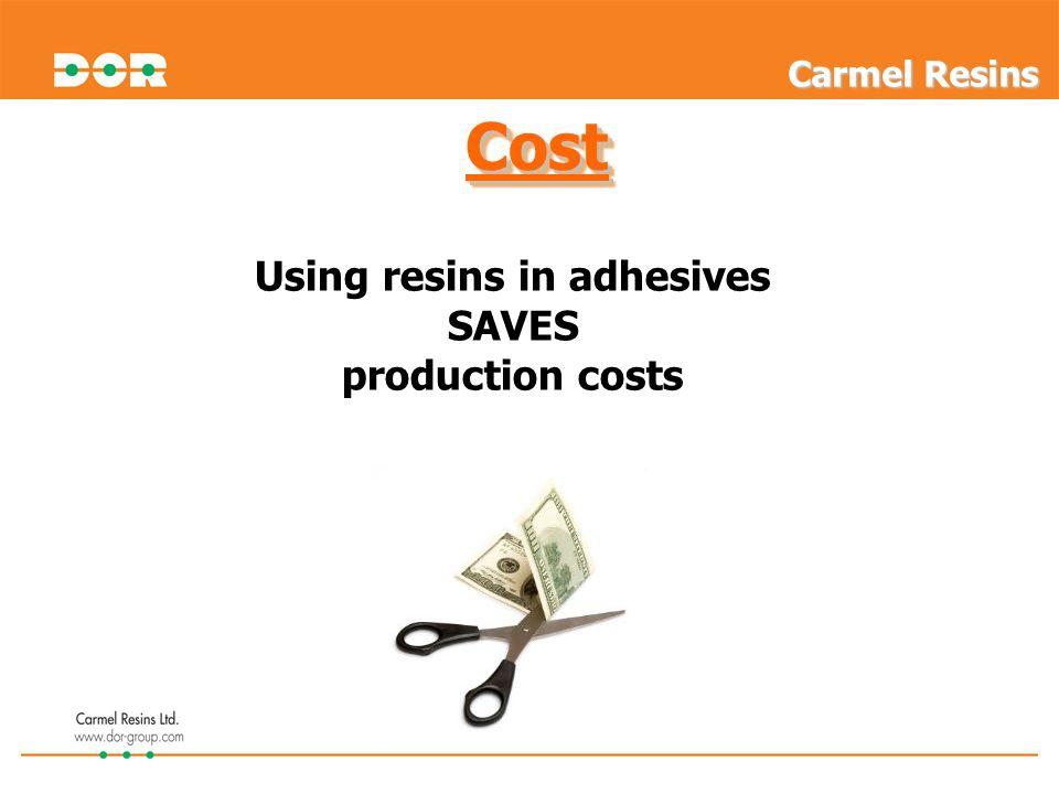 Using resins in adhesives
