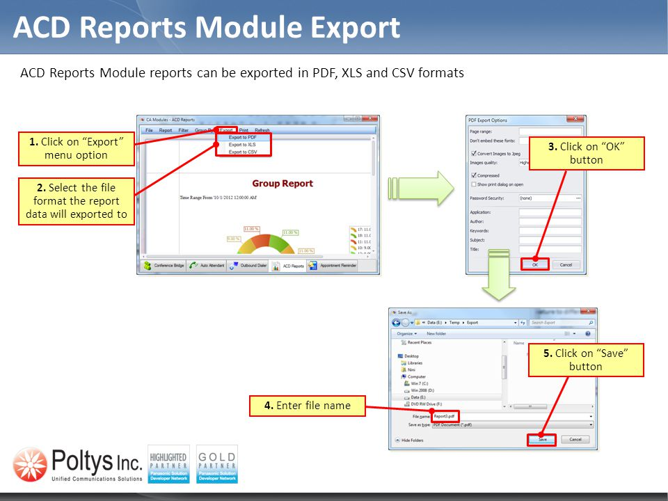 ACD Reports Module Export
