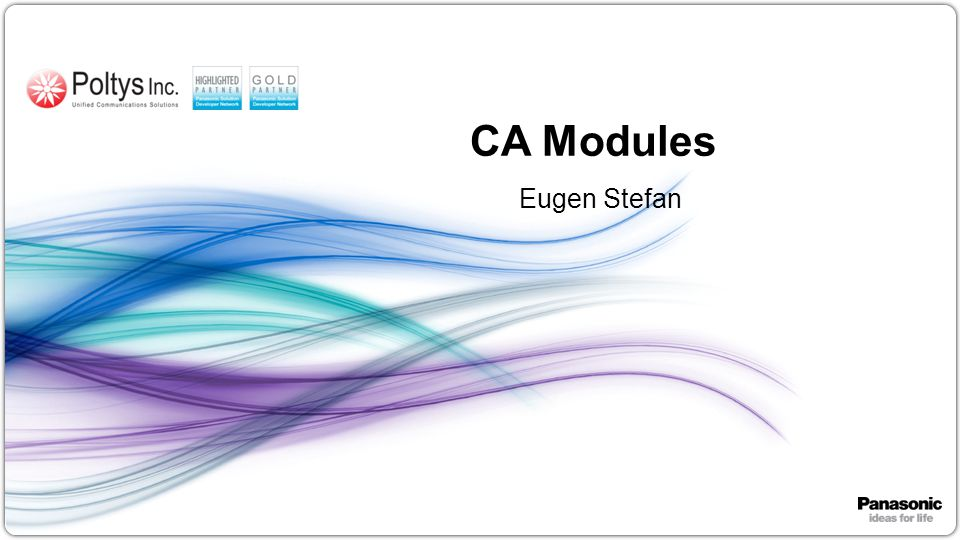 CA Modules Eugen Stefan