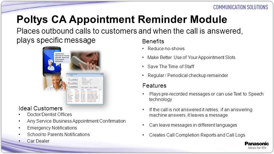 Poltys CA Appointment Reminder Module