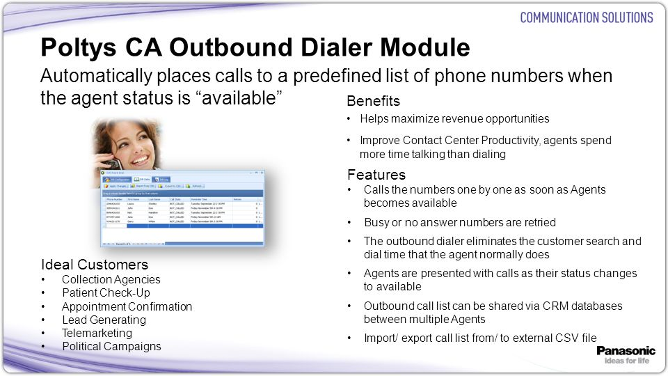 Poltys CA Outbound Dialer Module