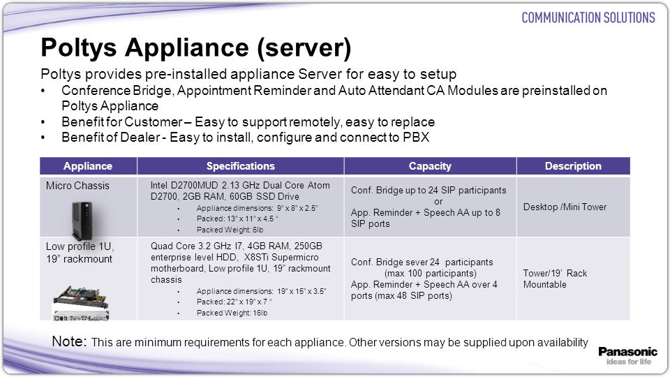 Poltys Appliance (server)