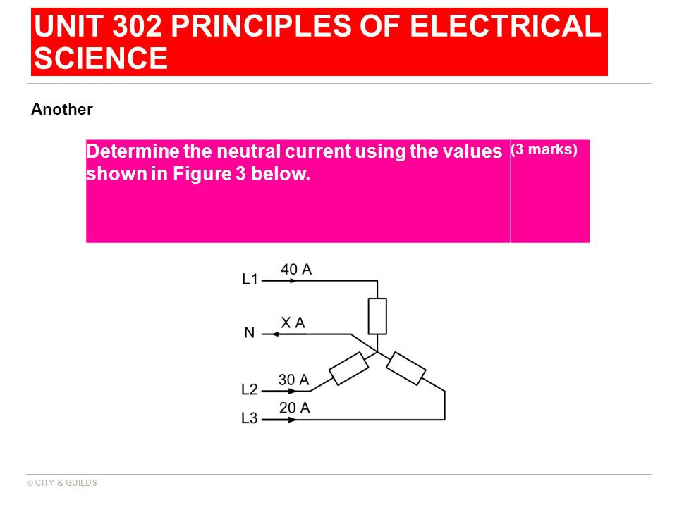 UNIT 302 PRINCIPLES OF ELECTRICAL SCIENCE