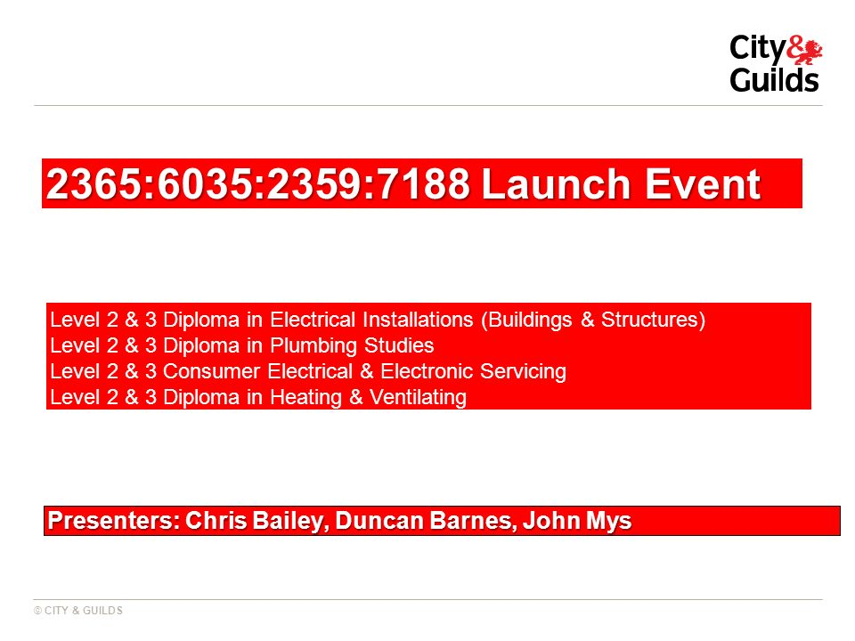 Presenters: Chris Bailey, Duncan Barnes, John Mys