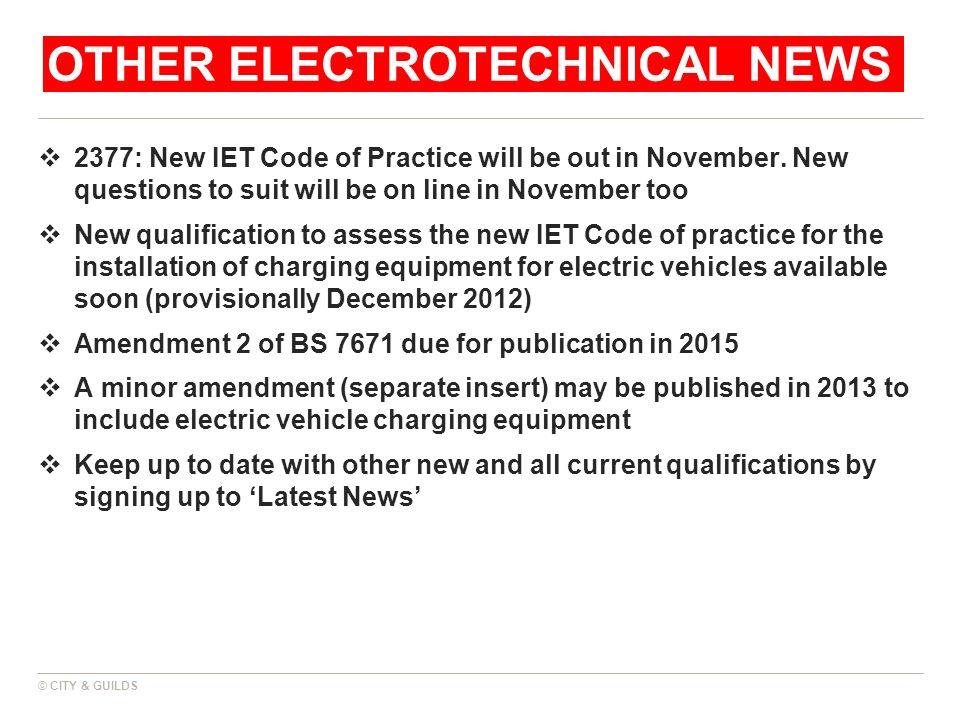 Other electrotechNICAL news