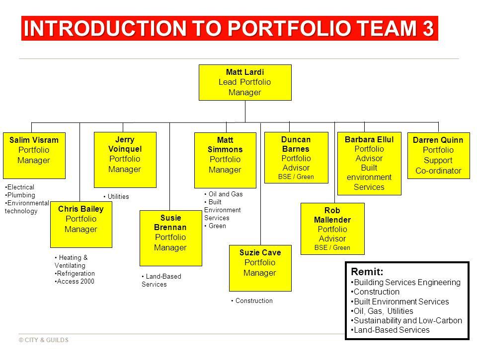 INTRODUCTION TO PORTFOLIO TEAM 3
