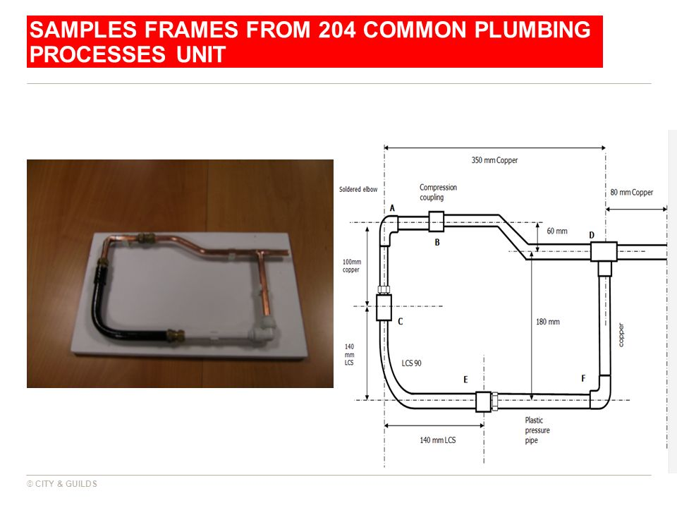 Samples frames from 204 Common Plumbing Processes Unit