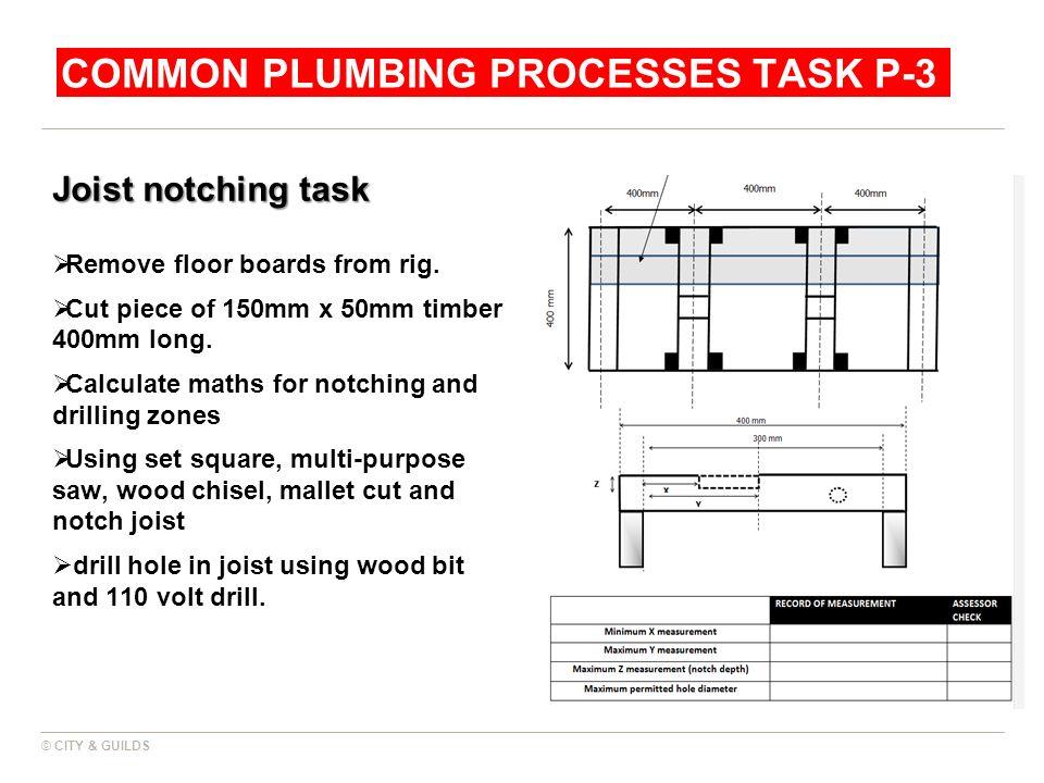 Common plumbing Processes Task P-3