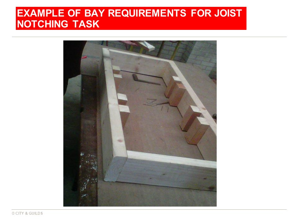 Example of bay requirements for joist notching task