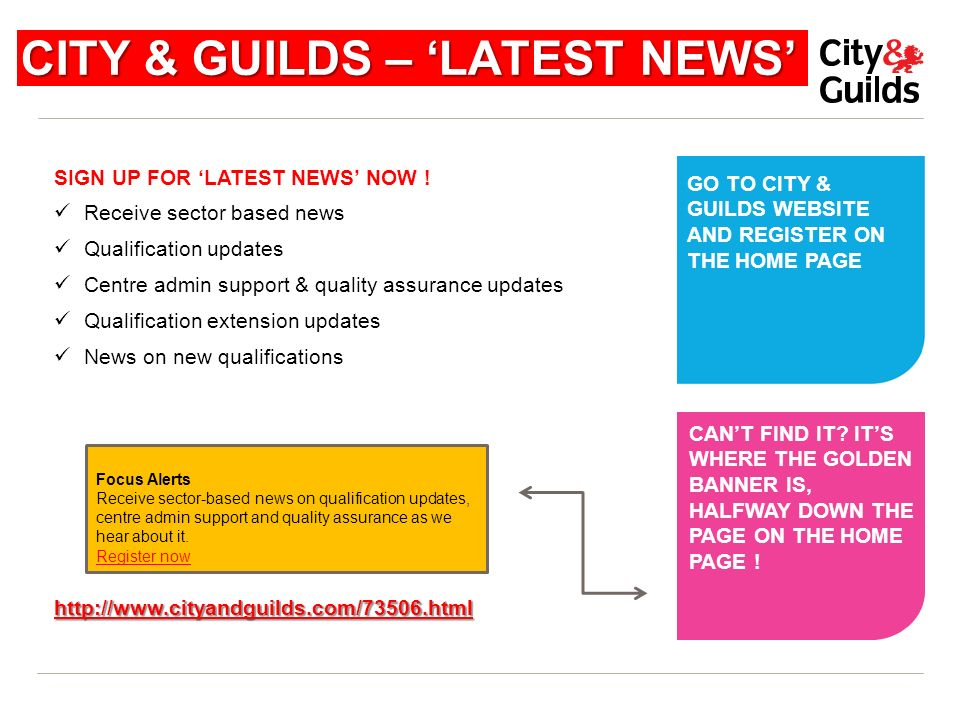 CITY & GUILDS – 'LATEST NEWS'