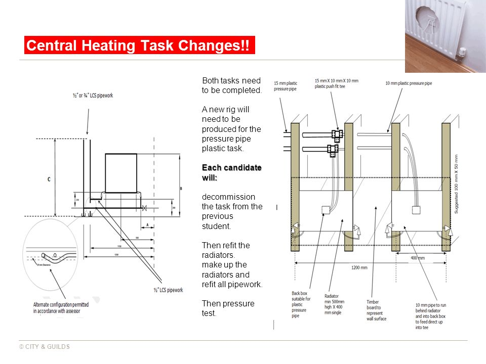 Central Heating Task Changes!!