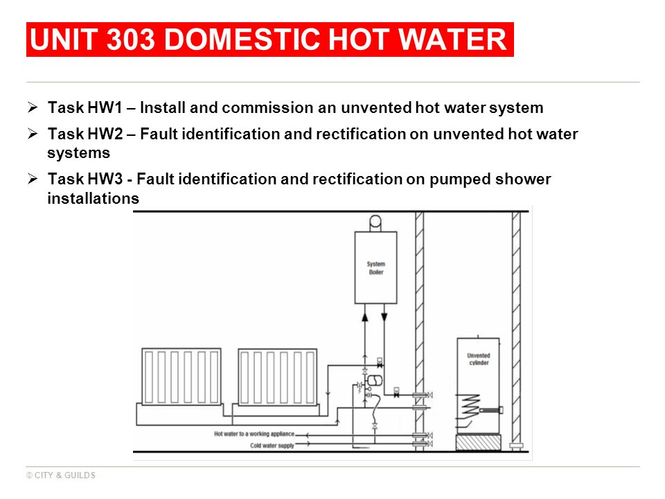 Unit 303 domestic hot water