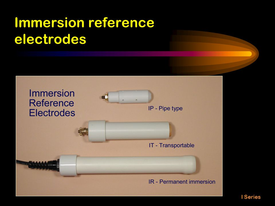 Immersion reference electrodes