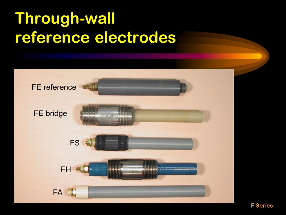 Through-wall reference electrodes