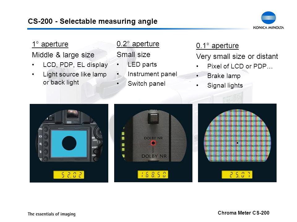 CS-200 - Selectable measuring angle