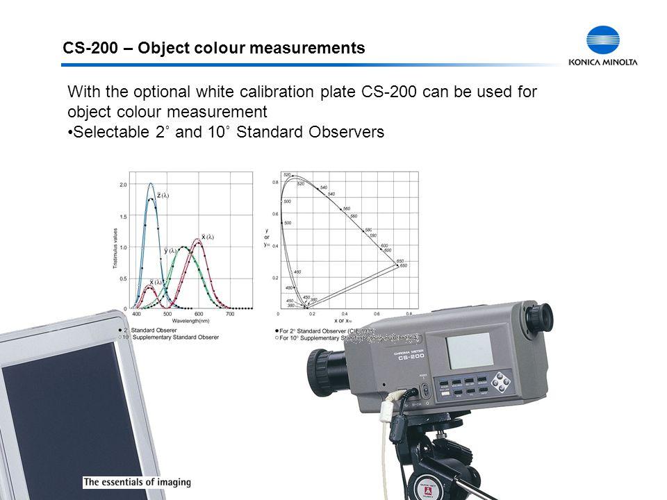 CS-200 – Object colour measurements