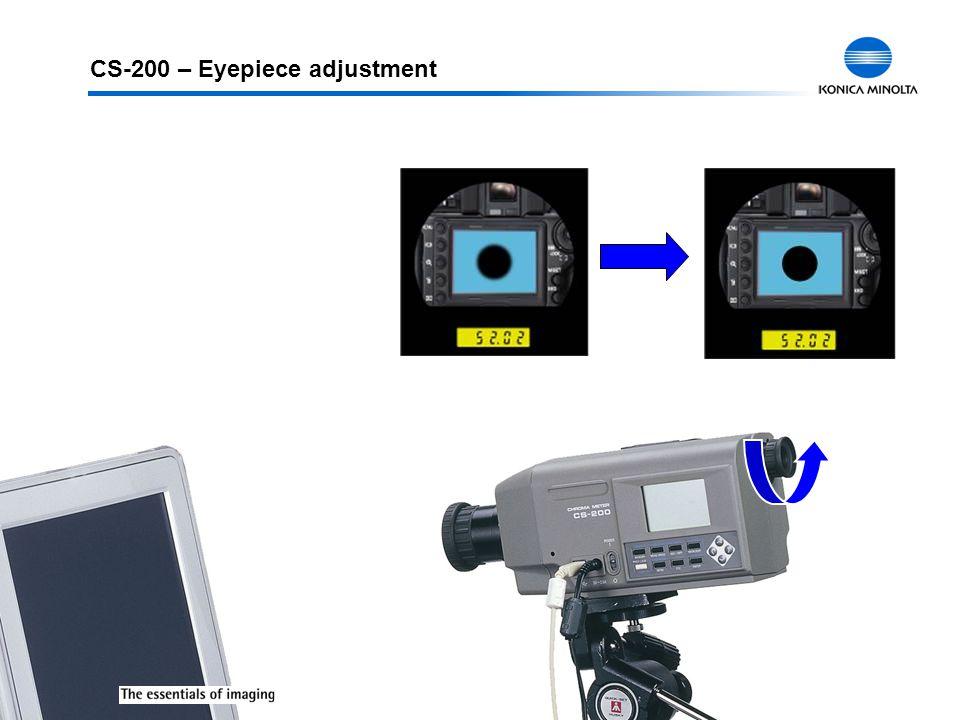 CS-200 – Eyepiece adjustment