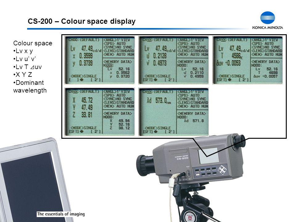 CS-200 – Colour space display