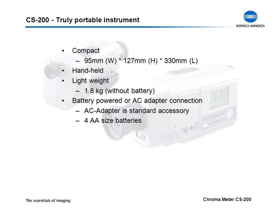 CS-200 - Truly portable instrument
