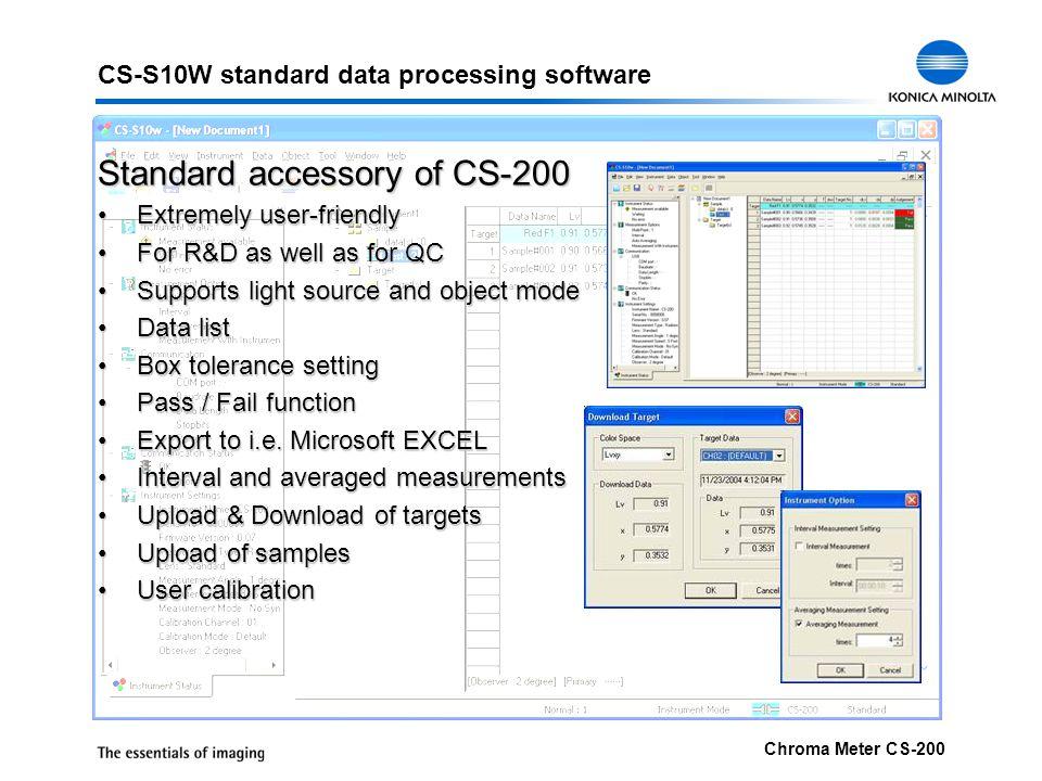 CS-S10W standard data processing software