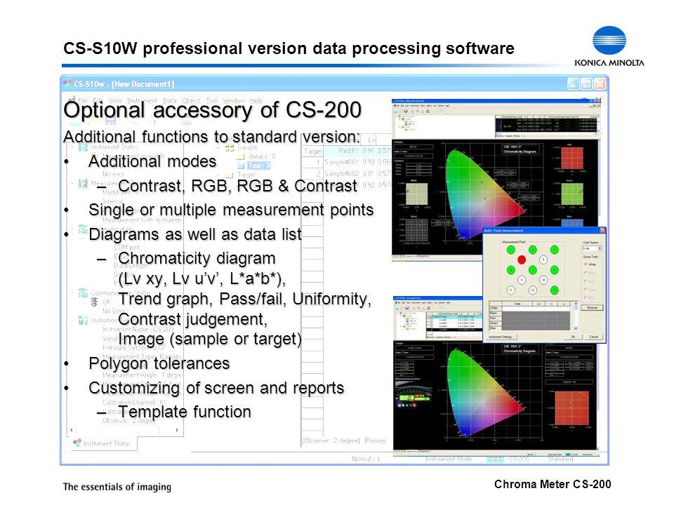 CS-S10W professional version data processing software