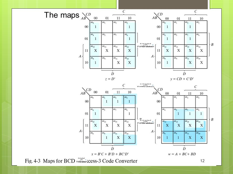 The maps 12