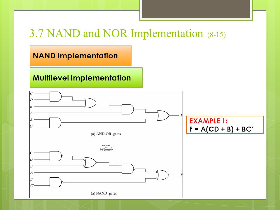 3.7 NAND and NOR Implementation (8-15)