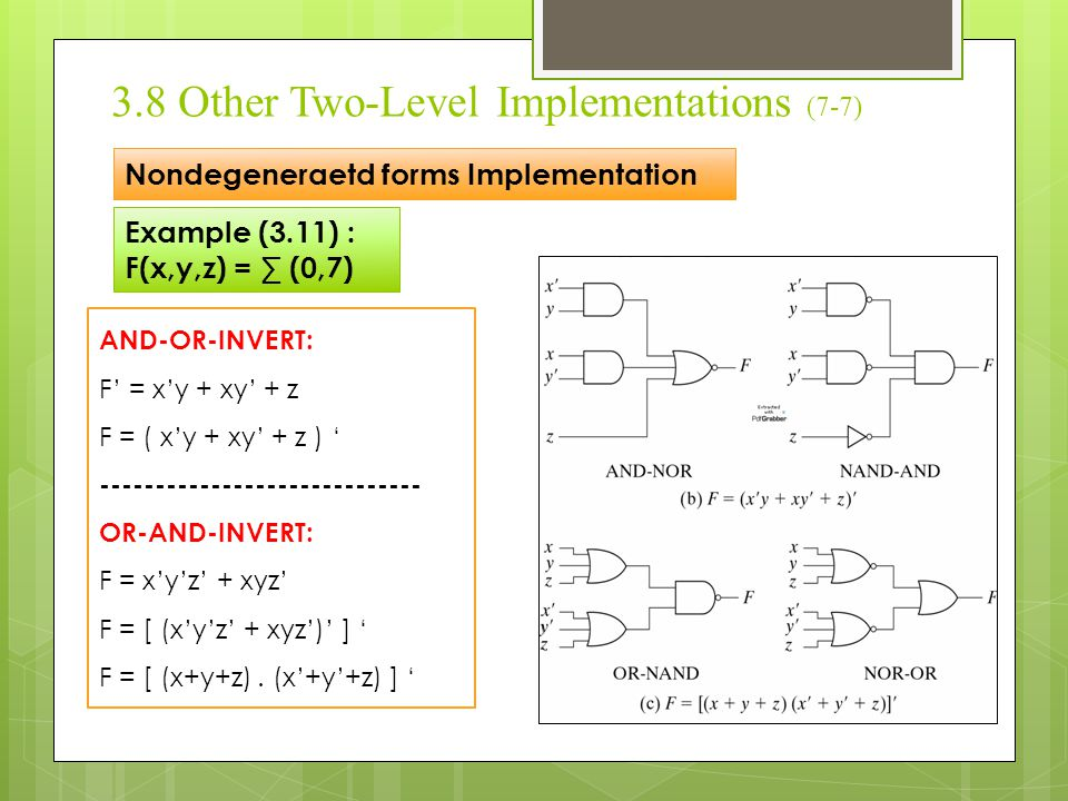 3.8 Other Two-Level Implementations (7-7)