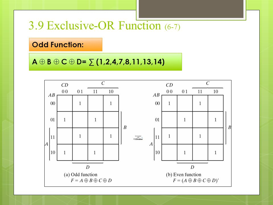 3.9 Exclusive-OR Function (6-7)