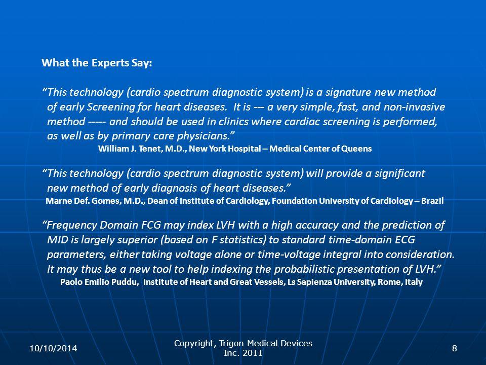 Copyright, Trigon Medical Devices Inc. 2011